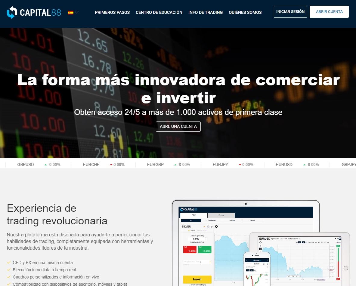 Opiniones e información sobre el broker Capital 88