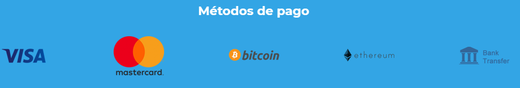 Medios de pago de BitOFHeaven