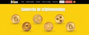 Principales activos comerciales ofrecidos por BitOpps